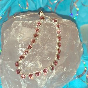 BNWT Adjustable Pink Swarovski Crystal Bracelet❤️